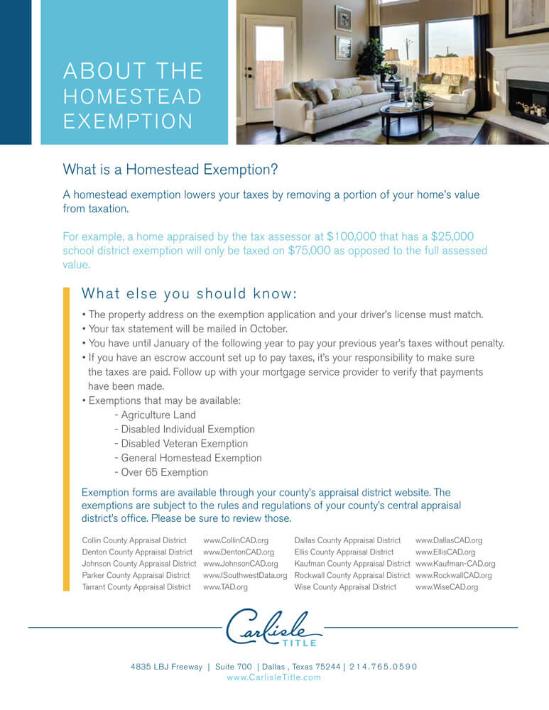 Homestead Exemption Carlisle Title