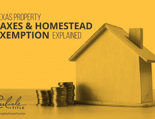 Homestead Act Texas Property Taxes